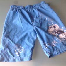 ALIVE Gr.122/128❤️ FAST NEU BADESHORTS Hose Shorts Short Badehose blau Blumen