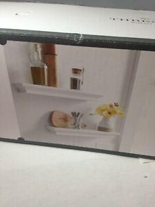 2pc Traditional Shelf Set White - Threshold wall shelf set-