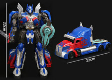 LARGE TRANSFORMERS 5 THE LAST KNIGHT OPTIMUS PRIME ACTION FIGURE TOY