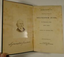 1882 SYLVESTER JUDD Memorabilia UNITARIAN MINISTER Novelist NORTHAMPTON MA
