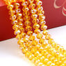 diy AB 100 (±3) PCS , 4 X 6 mm Orange Colors Crystal Faceted Abacus Loose Beads