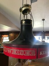 Vintage Budweiser King of Beers Hanging Pool Table Ceiling Lamp Light  Round 17""