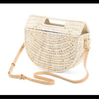 Beautiful & Trendy C&C California Half Moon Rattan Bag