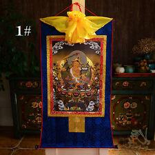 Tibetan Buddhist Buddha Silk Gild Thangka Thanka Wen Shu Manjusri Amulet 85CM