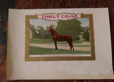 TIMELY 1906 Horse-racing Champion Knoxboro, New York INNER CIGAR BOX LABEL RARE