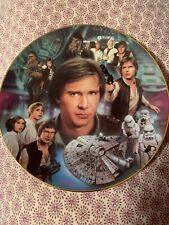 Han Solo Hamilton Collection Portrait Collage Plate 1997 Lucas Film
