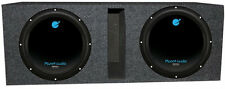 "Planet Audio 12"" 3600W DVC Subwoofer AC12D (2)+Dual 12"" Vented Sub Box Enclosure"