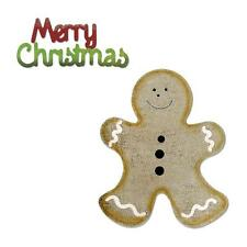Sizzix Bigz Die W/ Bonus Sizzlits Die Gingerbread Man & Merry Christmas 658178