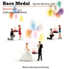 RM1:64 miniature romantic proposal bride and groom model