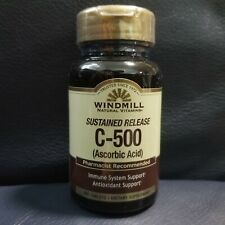 Windmill Sustained Release C-500 mg of Ascorbic Acid 60CP Antioxidant Protection