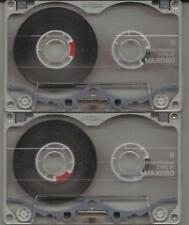 2 TDK MA-XG60 AUDIO CASSETTE TAPES; TYPE IV, METAL, SINGLE PREVIOUS USE