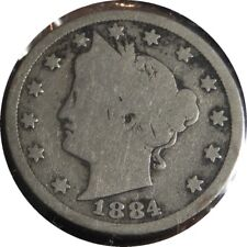 elf Liberty  Five Cents 1884