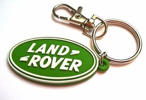 New Land Rover rubber key chain Defender Range Discovery keyring light PVC fob