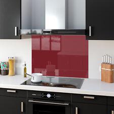 Shades Of Red Toughened Glass Kitchen Splashback Panels Any Size & Colour