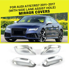 Side Mirror Covers For AUDI A7/S7/RS7  11-17 W/ Side Line Assistant Replacement