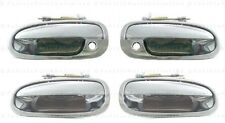 All 4 Outside Outer Exterior Door CHROME Handles Fits: 96 - 00 HONDA Civic 4 D