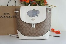 NWT Coach 91121 X Disney Dumbo Elle Backpack in Signature Canvas & Leather $428