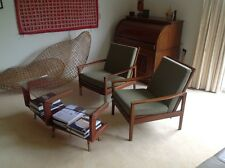 Pair Mid Century Fler low-back Lounge chairs in exceptional original condition