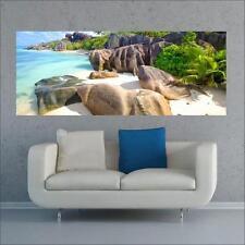 "Glasbild, Bild aus Glas, 125 x 50 cm Motiv ""0198_Strand"""