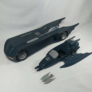 1993 Batman The Animated Series Batmobile w/Pursuit Jet & Bat Bomb COMPLETE