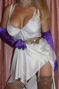 (S12) REGER by Janet Reger Super Soft Ivory Night Gown Dress Lingerie size 12