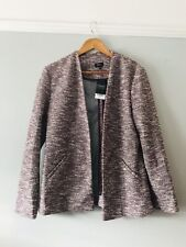 Next Size 14 BNWT Jacket Mauve Fleck Fake Pockets Smart