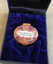 "Halcyon Days Enamel Box ""Dream About Tomorrow But Live For Today"" New In Box"