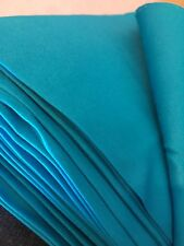 Blue cotton spandex sateen fabric - per metre