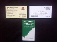 "LOT OF 3 -- VINTAGE BUSINESS CARDS -- PAWN SHOPS / PAWN BROKERS -- ""COLLECTABLE"""