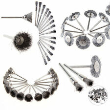 45pcs Steel Wheel Pen Cup Wire Brushes Set Mix Brush Tool For Dremel Rotary