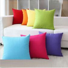 Beauty Home Plain Solid Throw Cushion Cover Rome Decor Sofa Waist Pillow Case