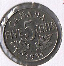 1934 Canada Nickel Five Cents