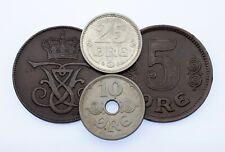 New listing 1907-1924 Denmark 5-25 Ore Lot (4 coins) Km 806, 814.1, 815.2, 822.1
