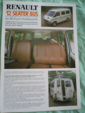 Renault 12 Seater Bus by Richard Holdsworth brochure c1985