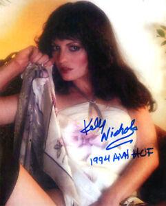 KELLY NICHOLS SIGNED 8x10 PHOTO AVN HOF XXX PORN ADULT MOVIE ACTRESS BECKETT BAS