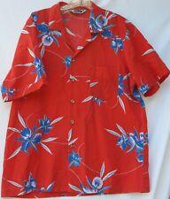 Vintage Triumph short sleeve button front Hawaiian shirt men's size large