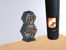 Kaminholzregal Brennholzregal Hexagon XL-5060 bis 30cm Scheite 0,16m3 3-teilig