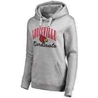 Fanatics Branded Louisville Cardinals Women's Ash Victory Script Pullover Hoodie