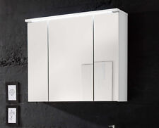 Silas - Armadietto a specchio con illuminazione LED, 3 ante, LAP ca. 80x68x23 cm