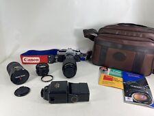 Canon AE-1 Program 35mm SLR Film Camera with 50 mm lens Kit, Filters, Bag Bundle