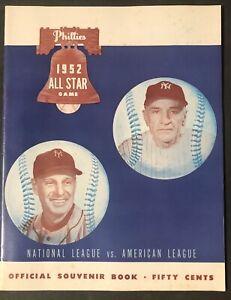 1952 MLB All Star Game Baseball Program @ Philadelphia Phillies Scorecard