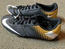 Nike Men's Bomba X Ic Indoor Soccer Shoes Black/White/Gold 826485-077 Sz 7