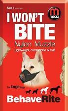 Mikki I Wont Bite Nylon Dog Muzzles Size 3 For Large Dogs