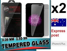 2x High Quality Tempered Glass Screen Protector for Apple iPhone 6 6s Plus