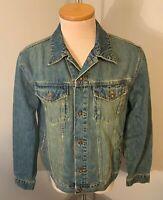 Old Navy Vintage Mens Blue Jean Denim Jacket Size M Medium