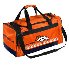 Denver Broncos Medium Striped Duffle Bag Core