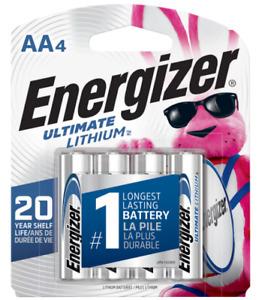 4 x Energizer AA Ultimate Lithium L91SBP Longest Lasting Batteries - EXP 12/2039