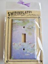 Monet Water Lilies Single Light Switch Plate Cover Metal Decoupage Art Plates