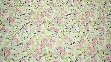 """Quilt Fabric Pink Flower Floral Print Craft Apparel Clothing 45""""W By Yd #9962P"""