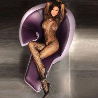 Sexy Black Fishnet Open Crotch BodyStocking BodySuit Lingerie Size 8-14 ❤Aus❤